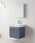Virtu USA Grey 24in Single Bathroom Vanity Set Midori VU-JS-50124-GR