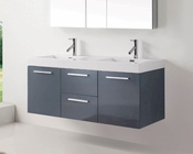 Virtu USA Grey 54in Double Bathroom Set Midori VU-JD-50154-GR