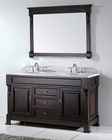 Virtu USA Huntshire 60in Double Bathroom Vanity Set VU-GD-4060-WMRO-DW