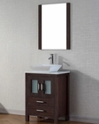 Virtu USA Modern Single Espresso Bathroom Set Dior VU-KS-70024-S-ES
