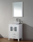 Virtu USA Modern Single White Bathroom Set Dior VU-KS-70024-S-WH