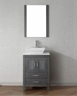 Virtu USA Modern Single Zebra Grey Bathroom Set Dior VU-KS-70024-S-ZG