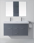 Virtu USA Opal 48in Grey Double Bathroom Set VU-UM-3067-GR