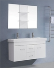 Virtu USA Opal White 48in Double Bathroom Set VU-UM-3067-WH