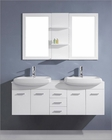 Virtu USA Ophelia 59in White Double Bathroom Set VU-UM-3059-S-WH