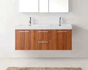 Virtu USA Plum 54in Double Bathroom Set Midori VU-JD-50154-PL