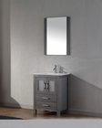 Virtu USA Single Zebra Grey Bathroom Set Dior VU-KS-70024-C-ZG