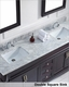 Virtu USA Victoria Espresso Double Bathroom Set VU-MD-26-WMRO-ES