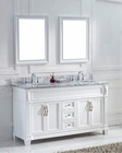 Virtu USA Victoria White Double Bathroom Set VU-MD-26-WMRO-WH