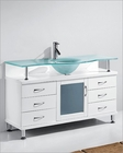 Virtu USA Vincente 55in Single Bathroom Vanity White VU-MS-55-WH