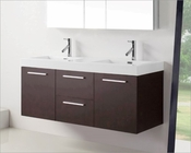 Virtu USA Wenge 54in Double Bathroom Set Midori VU-JD-50154-WG