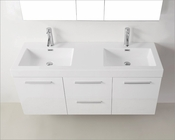 Virtu USA White 54in Double Bathroom Set Midori VU-JD-50154-GW