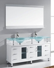 Virtu USA White 59in Bathroom Set Vincente Rocco VU-MD-61-FG-WH
