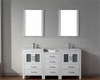 Virtu USA White Double Bathroom Set Dior VU-KD-70066-C-WH