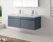 Virtu USA Zuri Grey 55in Double Bathroom Vanity Set VU-JD-50355-GR