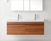 Virtu USA Zuri Plum 55in Double Bathroom Vanity Set VU-JD-50355-PL