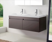 Virtu USA Zuri Wenge 55in Double Bathroom Vanity Set VU-JD-50355-WG