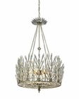 ELK Viva Natura 6 Light Chandelier in Aged Silver EK-31778-6