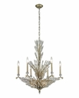 ELK Viva Natura 9 Light Chandelier in Aged Silver EK-31779-6-3