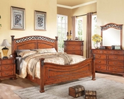 Walnut Finish Bedroom Set Manfred by Acme Furniture AC22770SET