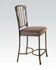 Walnut Finish Counter Height Chair Barry by Acme AC70692 (Set of 2)