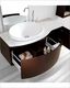 Walnut Single Bathroom Set Isabelle by Virtu USA VU-ES-1048-AM-WA