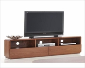 Walnut TV Stand in Contemporary Style 44ENT198