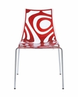 Wave Side Chair in Abstract Design by Euro Style EU-2266206 (Set of 4)