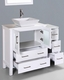White 42in Square Vessel Sink Single Vanity by Bosconi BOAW130S1S