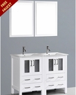 White 48in Double Integrated Sink Vanity by Bosconi BOAW224U