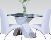 White Dining Set Pervis by Acme Furniture AC71105SET