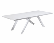 White Dining Table Contemporary Style 44D1108-24