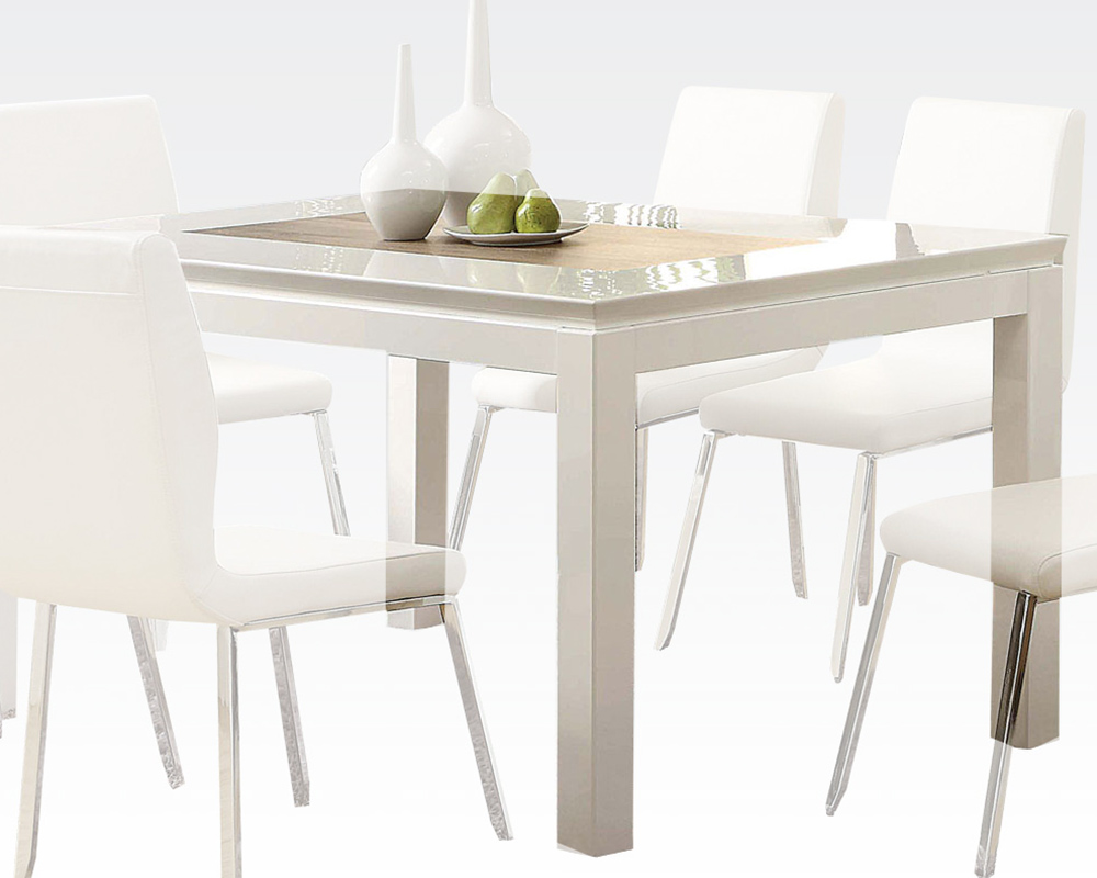 White Dining Table Kilee by Acme Furniture AC