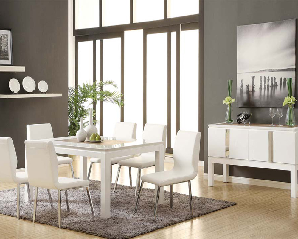White Dining Set Kilee By Acme Furniture AC70990SET