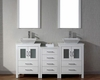 White Double Bathroom Set Dior by Virtu USA VU-KD-70066-S-WH