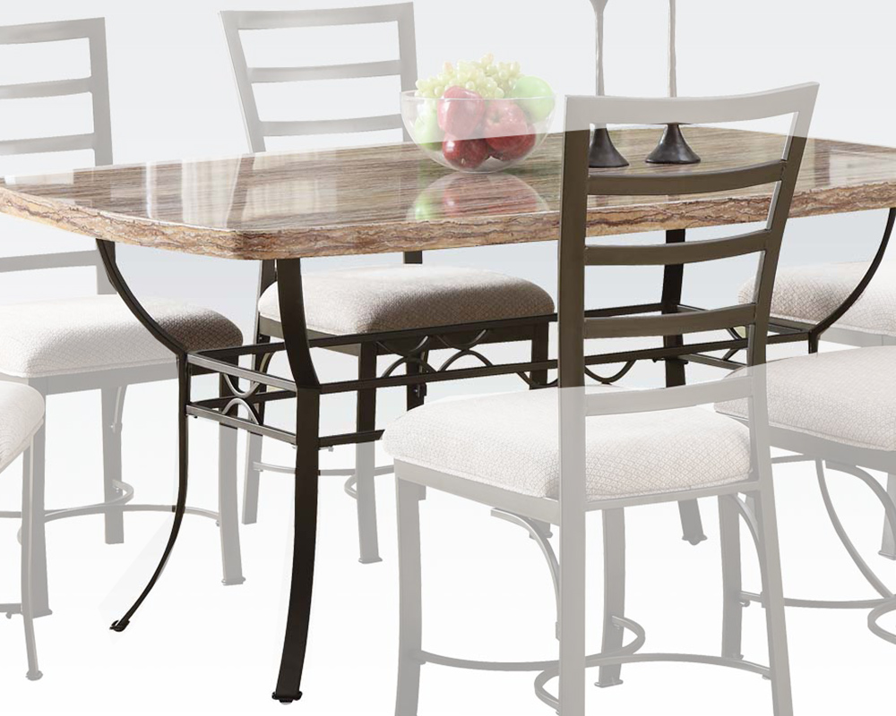 White faux marble top dining table val by acme furniture ac70094 - White marble dining tables ...