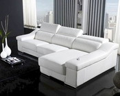 White L Shape Leather Sectional Sofa Set 44LT136CW
