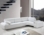 White Leather Modern Design Sectional Sofa Set 44L0738