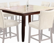 White Marble Counter Height Table Britney by Acme AC17059
