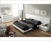 White Modern Bedroom Set Made in Spain Sara 3313SR
