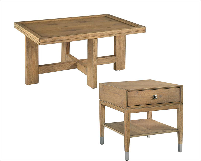 White Oak Coffee Table Set Avery Park By Hekman He 951500av Set