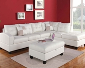 White Sectional Sofa Set Kiva by Acme Furniture AC51175SET