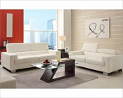 White Sofa Set Vernon by Homelegance EL-9603WHT-SET