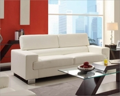White Sofa Vernon by Homelegance EL-9603WHT-3
