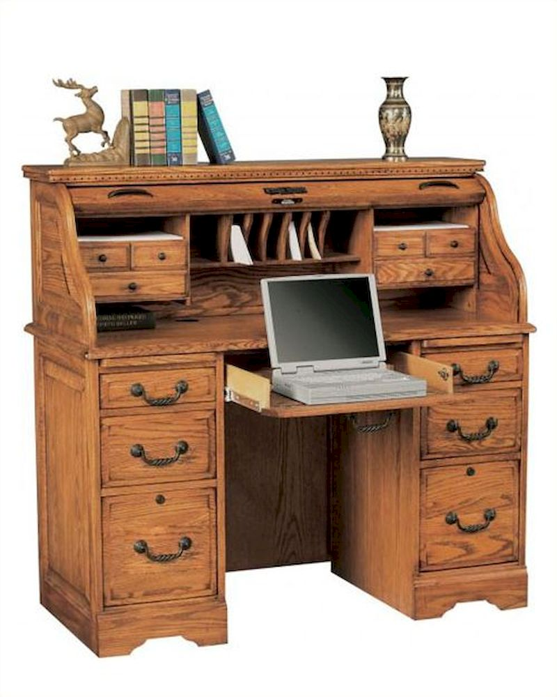 roll top desk winners only 48 quot computer desk with roll top wo h148r 28903