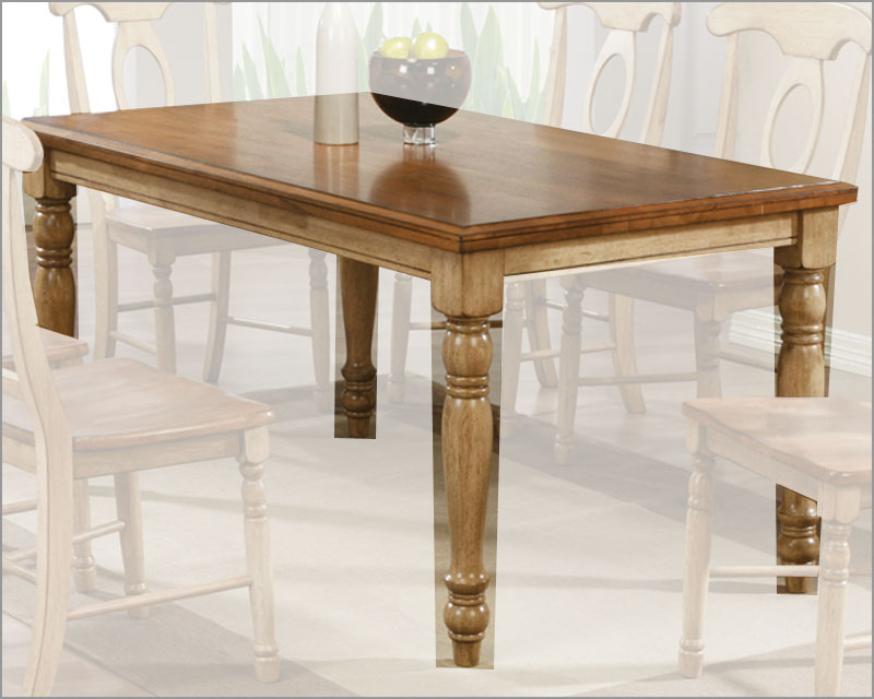 Winners Only AlmondWheat 60 Dining Table Quails Run WODQ13660W