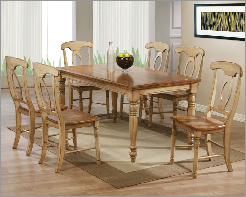 Winners Only Almond/Wheat Dining Set Quails Run WO-DQ15Ws