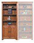 Winners Only Bookcase with Doors and Shelves WO-HM132BDR