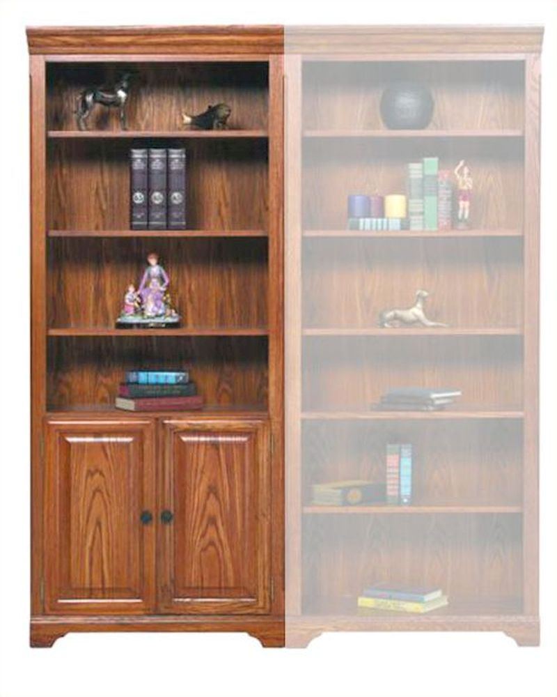 Winners Only Bookcase With Doors And Shelves Wo Hm132bdr