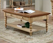 Winners Only Coffee Table Quails Run in Almond/Wheat WO-AQ100CW